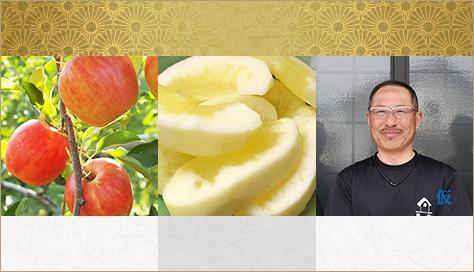 山形県天童市にある、美味しい果物を栽培・生産しているフルーツ果乃蔵のりんごの発育の様子